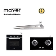 MAYER M Series 90cm SlimLine Hood With Built in Oven & FREE Glass Gas Hob