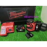(含稅價)緯軒 米沃奇 M18BOS125-202X,402X 5吋 18V配2.0A或4.0ah雙電池 研磨機