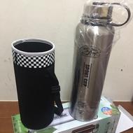 【美迪達】1.6L高真空運動瓶-附套(MD-1600S不鏽鋼色)