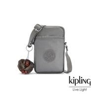 【KIPLING】寧靜月光灰可愛長方形小包-TALLY