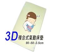 issla伊世樂D-01 3D複合式氣動床墊S小床(乳母小床墊:90x50x3.5cm)會呼吸的嬰兒床墊~透氣、好眠