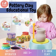 Beginners Pottery Wheel Kit for Kids with Clay Paints and Tools DIY Toy for Kids