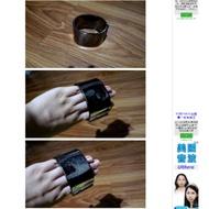 龐克風金屬手環購於蝦皮拍賣