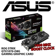 ASUS ROG STRIX GTX1070-O8G GAMING GRAPHIC CARD / With 1860 MHz Boost Clock/Produced in Korea