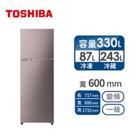TOSHIBA 330公升變頻冰箱 GR-A370TBZ(N)免費標準安裝定位