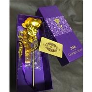 全新 golden rose 黃金限量玫瑰 24K金玫瑰 盛開禮盒版 25 cm 仿真玫瑰