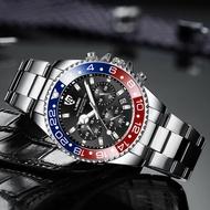 🔥PROMO🔥{Ready stock} Men's Watch BOZLUN Military Sports Leather Waterproof Quartz Wristwatch