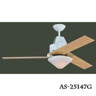工業風系列/設計款 52吋 LED 18W 吊扇燈 風扇燈 尊爵黑/杏仁白// 永光照明AS-25147G/AS-25148G