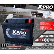 全動力- X-PRO 進口電池 EFB EC60 L2 (12V60Ah) 同56219 起停系統 電池 汽車電瓶 福斯