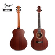 """Smiger 36"""" Classical Acoustic Guitar Mini Travel Size Vintage Guitars with Gig Bag"""