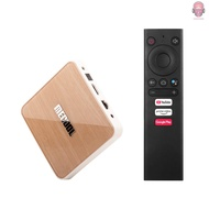 AUDI  MECOOL KM6 DELUXE Smart Android 10.0 TV Box UHD 4K Media Player Amlogic S905X4 4GB/32GB 2T2R 2.4G/5G WiFi Voice Remote Control Google Certificated AV1 H.265 VP9 Decoding BT5.0