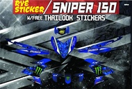 Decals, Sticker, Motorcycle Decals for Yamaha Sniper 150,044,