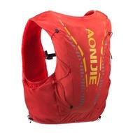 【AONIJIE】單車運動跑步越野貼身背包 12L 水袋需另購 橘紅色