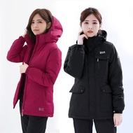 【遊遍天下】女款GlobeTex防水防風禦寒中長版羽絨外套(M-5L)