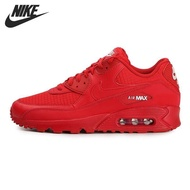 【Cod】 Nike_Air_Max 90_Essential รองเท้าวิ่งผู้ชายรองเท้าผ้าใบสีแดง 2019 กีฬารองเท้าบาสเกตบอลรองเท้ารองเท้า