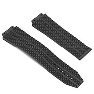 25mm Replacement Black Waterproof Silicone Rubber Watch Band Strap For HUBLOT