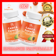 JUDGES PH DUO DR. VITA CARICA PAPAYA (with Royal Jelly & Zinc) 500mg x 30 capsules enhance the shape naturally Papaya enzymes are rich in breast enhancement hormones and nutrients such as Vitamin A Zinc Gluconate Vitamin C face mask Can promote the absorp