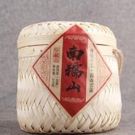 雲南普洱茶生茶 傳統手工生普南糯山古樹500克手工竹簍裝茶柱