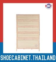 5 ชั้น สีลายไม้สว่าง ตู้รองเท้าอลูมิเนียม กันน้ำกันปลวก ตู้รองเท้า ชั้นวางรองเท้า กล่องใส่รองเท้า ตู้อเนกประสงค์ ALUMINIUM SHOE CABINET