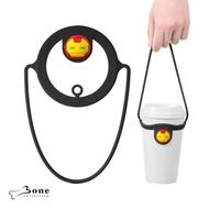 【Bone】Cup Tie 環保杯綁 飲料提袋 - 鋼鐵人(環保矽膠飲料袋 漫威授權)