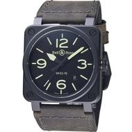 【Bell&Ross】經典時尚飛行械機腕錶(BR0392-BL3-CE/SCA)