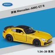 奔馳Mercedes-AMG GT R仿真合金汽車模型回力車玩具