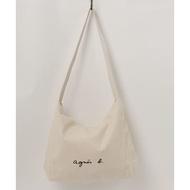 agnes b. 大容量 帆布 單肩包 側背包