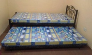 Single Bed with Pull Out Bed and 2 Uratex Foam