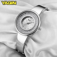YAQIN Luxury Watches Women's Casual Stainless Steel Mesh Quartz Fashion Casual Watches