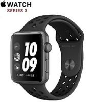 Apple Watch Nike+ Series 3 GPS 版 42mm 太空灰鋁金屬錶殼配黑色 Nike 運動錶帶 (MTF42TA/A)