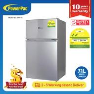 PowerPac 71L 2 Door Mini Bar Fridge with Freezer (PPF85)