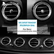For Mercedes-Benz E Class W213 E200L E300L 2016-2020 Accessories Car Central Console Air Outlet Decoration Ring Stickers