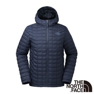 【The North Face】ThermoBall暖魔球保暖連帽外套M深藍