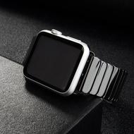 สายเซรามิกสำหรับสายคาดApple Watch 44มม.40มม.ฉันดูวง42มม.38มม.หรูหราสร้อยข้อมือเหล็กสแตนเลสApple Watch 4 5 3 2 1