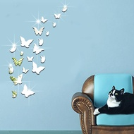 Butterfly Mirror Wall Stickers 3d Creative Acrylic Mirror Stickers