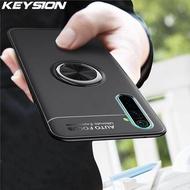 Keysion กันกระแทกกรณีสำหรับ realme XT X X2 5 Pro ซอฟท์ซิลิโคนแหวนแม่เหล็กยืนโทรศัพท์ปกหลังสำหรับ realme Q 3 Pro X2 Pro