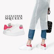預購 英國真品Alexander Mcqueen oversized sole sneakers 時尚白粉色運動休閒鞋