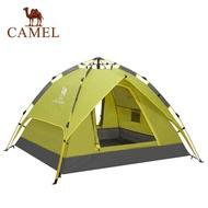 Camelกลางแจ้ง3-4คน4 Seasonอัตโนมัติเต็มรูปแบบเต็นท์กันฝนInstant Rapidเปิดเต็นท์สำหรับตั้งแคมป์,เดินป่าและExpeditions