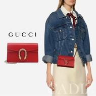 預購 義大利正品 GUCCI Dionysus Super Mini bag 紅色皮革金虎頭鏈條迷你側肩包 476432