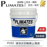 【漆寶】金絲猴│浸泡式矽酸質止漏液P-250(5加侖裝) ★免運費★