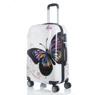 """20 """"24"""" นิ้วแฟชั่นพิมพ์ลายม้าลายกระเป๋าเดินทางน่ารักกระเป๋าเดินทางแบบลากรถเข็นเด็กเดินทางกระเป๋า"""