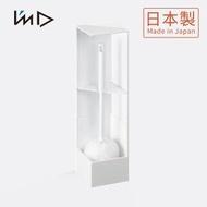 【日本岩谷Iwatani】RETTO直角/轉角隱藏式馬桶刷架3件組-1架2軟毛刷(廁所 浴廁 角落 室內 清潔)