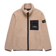 【毒】National Geographic 國家地理 Herer Fleece F-ZIP 刷毛外套 淺褐色 中性