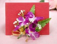 石斛蘭胸花 、人造花、結婚用品
