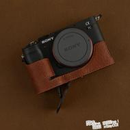 VR原創Sony/索尼A7C皮套相機包索尼A7C保護套手柄底座半套 限時折扣