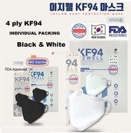 KF94 Mask EZWELL [Korea Health Mask] Original 3D Face Mask Black & White for adult approved by KFDA MADE IN KOREA★KF94MASK/4ply/KF94 Original from Korea