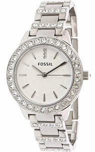 Fossil Women's Jesse ES2362 Silver Stainless-Steel Japanese Quartz Dress Watch