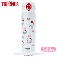 小禮堂 Hello Kitty 膳魔師彈蓋不鏽鋼保溫瓶《紅白.日常滿版》500ml.水壺.水瓶