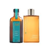 MOROCCANOIL 摩洛哥優油禮盒(摩洛哥護髮油125ml+沐浴膠250ml) 公司貨【花町愛漂亮】DM