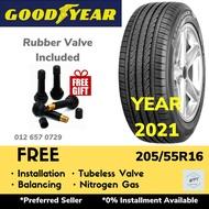 205/55R16 GOODYEAR ASSURANCE TRIPLEMAX 2 (Installation) Tyre Tayar Tire Rim 16 WPT NIPPON Tayar Baru Pasang